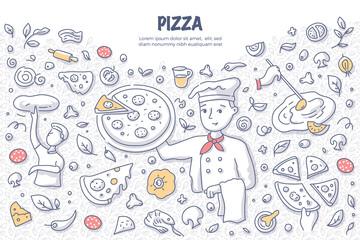 Pizza Doodle Concept
