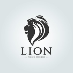 Lion logo design template. Vector illustration