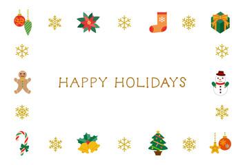 グリーティングカード Happy Holidays