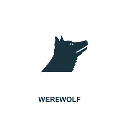 Werewolf icon. Premium style design from halloween icon collection. UI and UX. Pixel perfect werewolf icon. For web design, apps, software, print usage.