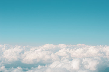 Canvas Prints Heaven blue sky with white clouds
