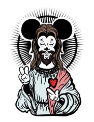 funny jesus tattoo