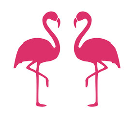 Flamingo Shape. Isolated. Vector.