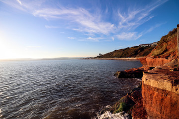 Exmouth beach cliffs