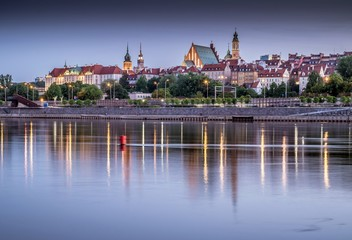 Fototapeta panorama Starego Miasta Warszawy obraz