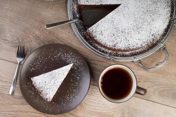Schokoladenkuchen von oben