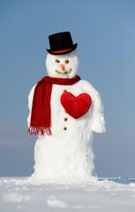 Schneemann im Winter als Lover