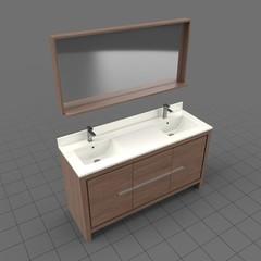 Modern bathroom sink with mirror