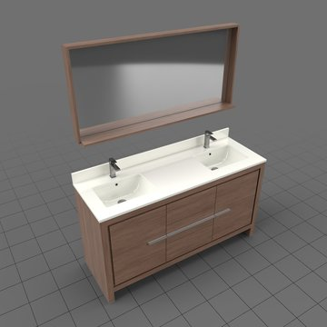 Modern bathroom sink with mirror