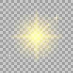 Bright star. Transparent shine