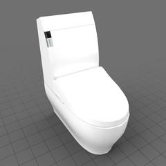 Modern toilet seat down
