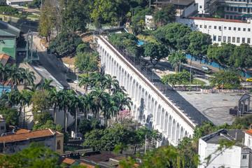 Aerial view of Arcos da Lapa Arches - Rio de Janeiro, Brazil
