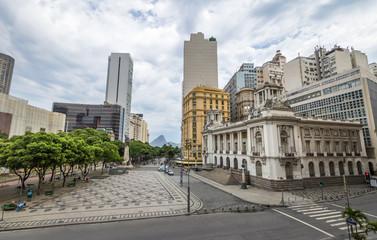 Rio de Janeiro City Hall at Floriano Square in Cinelandia - Rio de Janeiro, Brazil