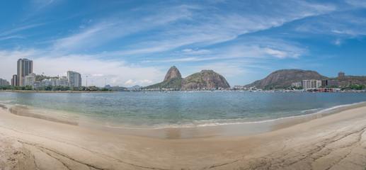 Panoramic view of Botafogo Beach and Sugar Loaf Mountain - Rio de Janeiro, Brazil