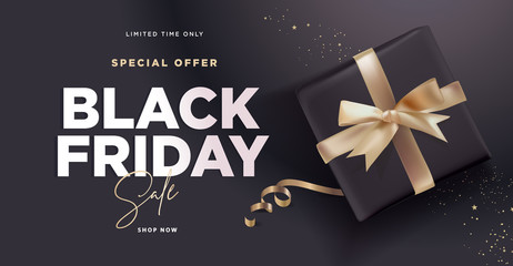 Black Friday sale banner. Social media vector illustration template for website and mobile website development, email and newsletter design, marketing material.