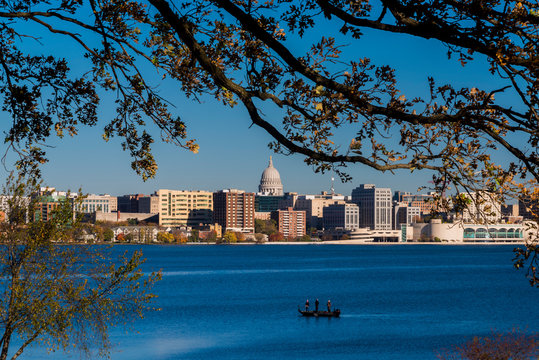 City of Madison, Wisconsin skyline.