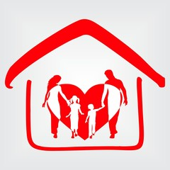 Happy Family House Icon