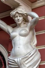 Aluminium Prints Historic monument Classic white female statue of the goddess in Odessa, Ukraine