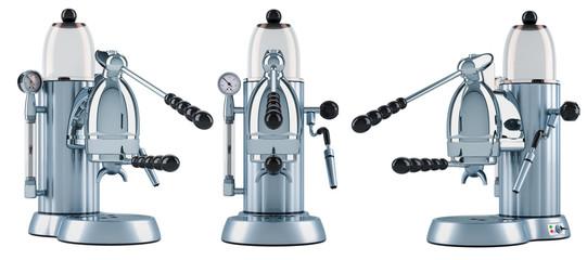 Manual coffeemaker or coffee machine retro design. 3D rendering