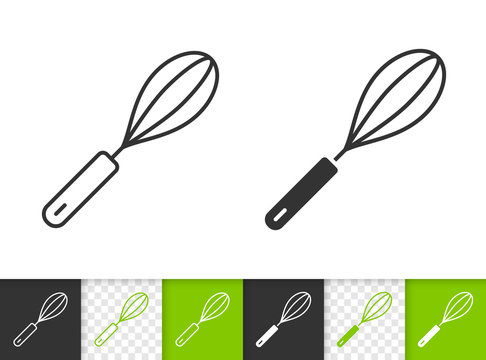 Egg Beater simple black line vector icon