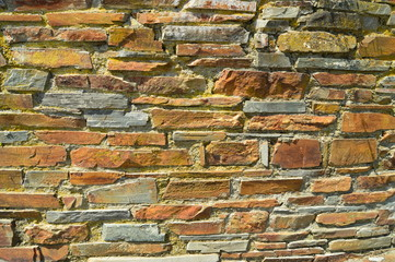 Pretty Slate Brick Wall For Use Of Screensaver, Desktop Background Or Working Background.