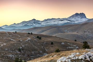 Tramonto a Rocca Calascio - Gran Sasso e Campo Imperatore