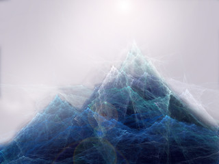 abstract fractal mountains