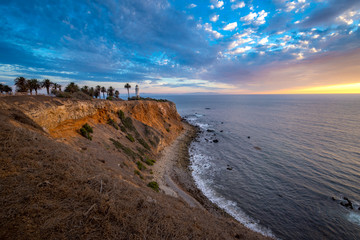 Beautiful Point Vicente Lighthouse at Sunset
