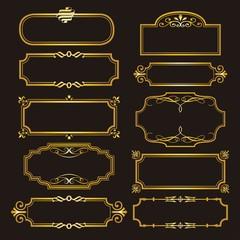 GOLD FRAME logo design vector