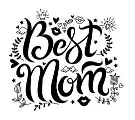 vector Lettering best mom