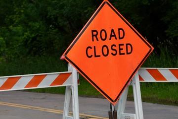 Orange Road Closed
