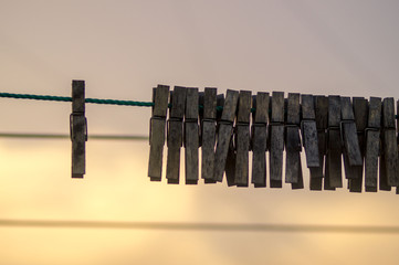 loneliness and the crowd on clothespins