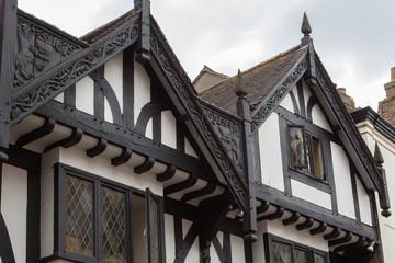 Typische Fachwerkhäuser in York, England