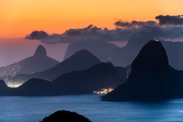 Rio de Janeiro Mountain View at Dusk