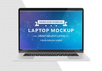 Laptop Isolated on White Mockup