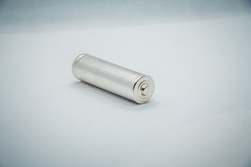one grey battery