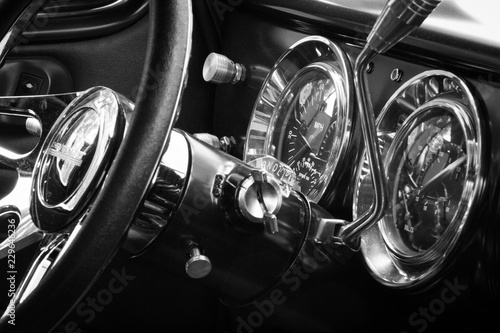 Wall mural Vintage Car Interior