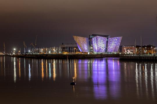 Titanic Belfast in the night