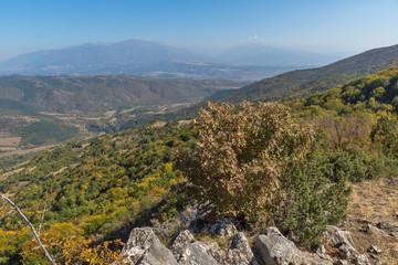 Autumn landscape of Ruen Mountain - northern part of Vlahina Mountain, Kyustendil Region, Bulgaria