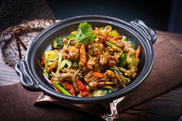 Spicy bullfrog pot