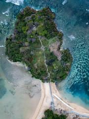 Indonesia, Bali, Aerial view of Nusa Dua beach