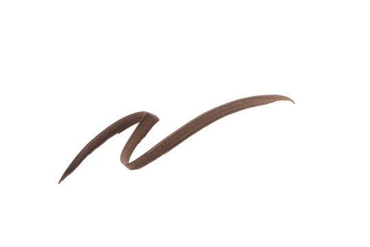 Brown color Eye liner stroke on white background