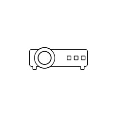 Projector icon. Simple outline vector of technology set for UI and UX, website or mobile application