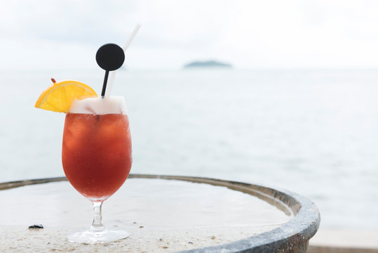 The Bay Breeze cocktail on the beach