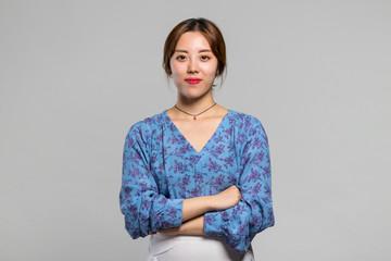 Women Adult Asian Smile Happy Concept