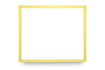 Yellow Frame isolated on white background.