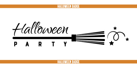 Halloween Party Broom Badge