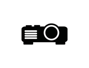 Projector icon. raster illustration