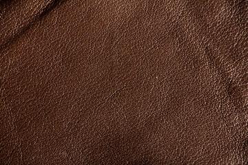 Brown skin texture close up. Natural, environmentally friendly material