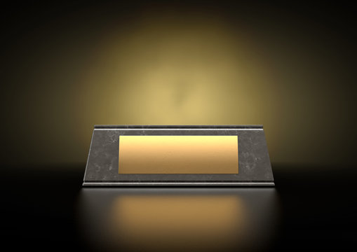 Marble Trophy Base & Plaque